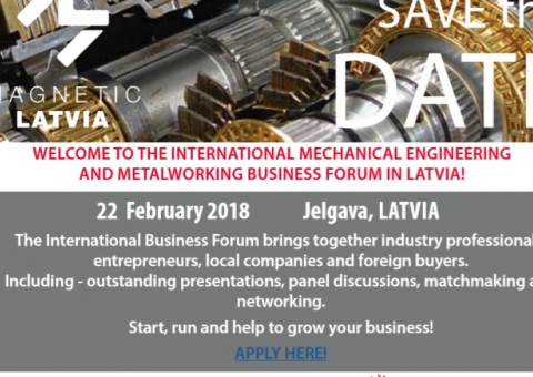 International Mechanical Engineering and Metalworking business forum in Latvia