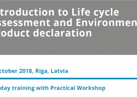 Publiskais kurss Introduction to Life cycle Assessment and Environmental Product declaration